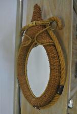 Miroir corde tressée Audoux Minet année 50.
