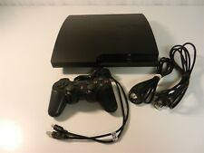 Playstation 3/PS3 Slim Console 320GB Bundle- OEM Controller, Cords, Charge cable
