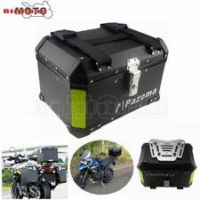 Motorcycle Aluminum Rear Box Top Case 45L Cargo Passenger Luggage Box Universal