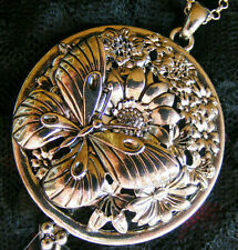 Butterfly Flower Necklace Magnifying Glass 5X Power Magnifier Vision Enhancer