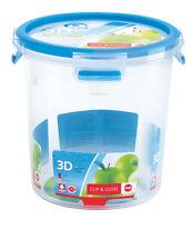 Emsa Set of 4 Clip & Close 3D PERF Clean Food Storage Container Jar
