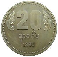 (E69) - Laos - 20 Kip 1985 - Anniversary of the PDR - RARE - Proof - KM# 40