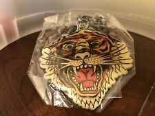 Vintage Don Ed Hardy Designs Roaring Tiger Large  Keychain Zoo 2 5/8 Wide