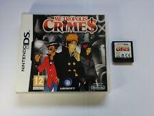 Metropolis Crimes-Nintendo DS - 2 DS 3 DS DSi-Gratuit, Rapide p&p!