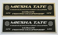 Miesha Tate UFC nameplate for signed mma gloves photo or case