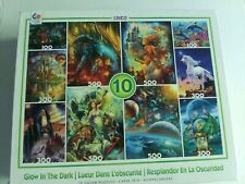 Ceaco Glow In The Dark Fantasy 10 Pack Jigsaw Puzzle Complete