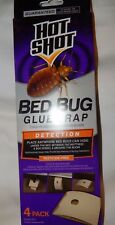 Hot Shot Bed Bug Glue Trap Stations 1, 4 pack Detection Pesticide Free Bedbugs