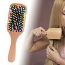 new Natural Wood Paddle Brush Wooden Hair Care Spa Massage Comb Anti-static Comb