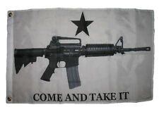 2x3 Come and Take it flag AR-15 M4 Machine Gun Flag 2'x3' House Banner grommets
