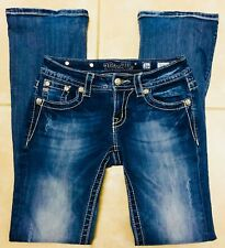 Miss Me Signature Rise Boot Stretch Blue Jeans size 26 x 32 1/2