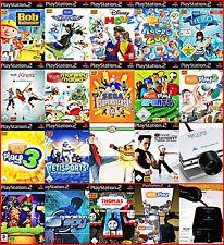 PS2 3 EYETOY Games + CAM 100-derte Lustige Bewegungs Games