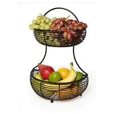 Fruit Basket Kitchen Organizer Display Home Storage Holder Rack Stand 2 Tier NEW