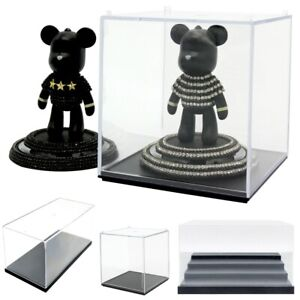 Clear Acrylic Display Case Box Organizer Stand Showcase for Figures/Toys