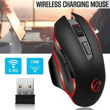 Wireless Rechargeable PC Gaming Mouse LED Light Optical Backlight Ergonomic
