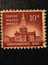 "1956 U.S.10C Postage Stamp, ""Independence Hall"", S#1044"