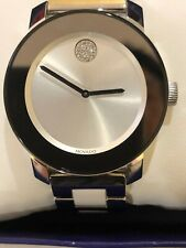 Movado Bold Ceramic Quartz Ladies Watch 3600638 New In Box Without Tag