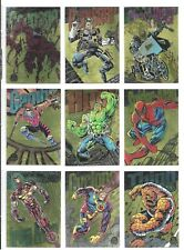 1994 MARVEL UNIVERSE COMPLETE GOLD POWERBLAST CHASE CARD SET OF 9 NM WAL-MART