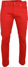 Relco Skinny Vaqueros Elásticos Indie Retro Negro Rojo Azul Índigo 28-40