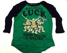 Nickelodeon Teenage Mutant Ninja Turtles Who Needs Luck When  Size M 7/9 (Y)