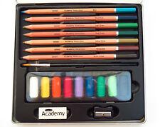 Derwent Academy 19 Piece Landscape Watercolour Set NEW Quality pencils in tin