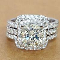 Certified 2.70Ct White Round Cut Diamond 14K Gold Engagement & Wedding Ring Sets