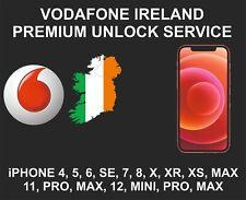 Vodafone Ireland Premium Unlock Service, fits iPhone 6, 7, 8, X, XR, XS, 11, 12