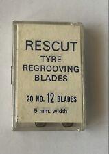 Vintage recut tyre regrooving blades 20x no.12 blades  (63)