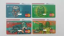 MEXICO - 4 EXPIRED BANK CARDS - MASTERCARD - AZTECA BANK - MEXICAN WRESTLERS
