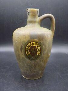 Antique France Vinegar Wine Gres Pottery Jug Bottle Stoneware French Label