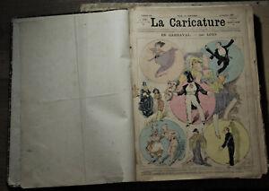 Robida. La Caricature. 42 numéros. 1881.