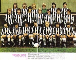 Newcastle United Football Club Colour Team Photograph / Photo – 1974-75