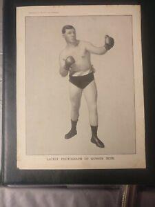 rare ORIGINAL Poster /Supplement to health and strength. GUNNER MOIR  circa 1908