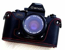 Leather Black with Red Stitch Half Case for Canon New F1 - BRAND NEW