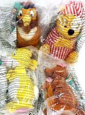 "McDonalds 1999 Disney Winnie The Pooh ~ Rare Foreign ~ Set Of 4 Plush Toys ~ 5"""