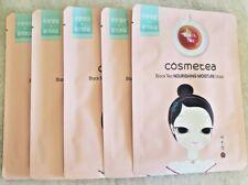 5pc Cosmetea Black Tea Nourishing Moisture Face Masks--FREE SHIPPING--US SELLER