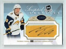 07-08 UD The Cup Scripted Swatches  Thomas Vanek  /25  Auto  Patch
