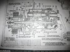 HARLEY DAVIDSON Blueprint Plans V2 Transmission & Clutch vtg Parts list big twin