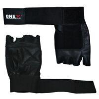Onex Fingerless Black & Gloves Boxing Hand Protection Gym Training Gloves
