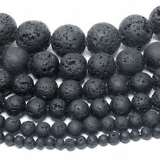 Natural Lava Stone Volcano Beads Round 4mm 6mm 8mm 10mm 12mm 14mm 15.5