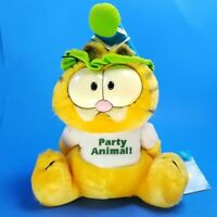 """Vtg 1981 Dakin GARFIELD Let's Party 9"""" Stuffed Plush United Feature Syndicate"""