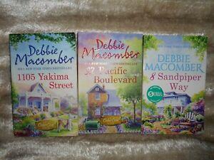 Bundle of 3 Debbie Macomber Cedar Cove Books - Sandpiper/Yakima/Pacific