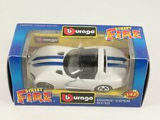 BBURAGO BURAGO 1/43 STREET FIRE #4130 DODGE VIPER RT/10 BIANCO NIB [PH3-29]