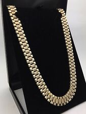 """Men's 10K Solid Yellow Gold Watch Link Chain 26"""" Necklace 51.9 g,12.2 mm Jewelry"""