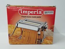 Imperia Deluxe Pasta Machine Maker made in Italy Manual NEW N BOX heavy duty