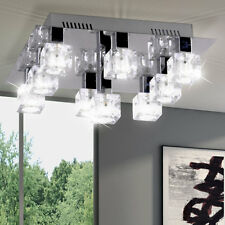 Éclairage plafonnier 9 spots luminaire plafond lampe salle de séjour chrome