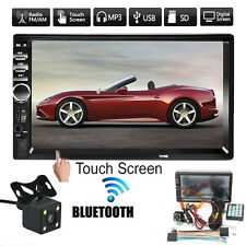 7'' 1080P 2 DIN BLUETOOTH AUTORADIO MP5 MP3 TOUCH SCREEN FM RADIO USB+TELECAMERA