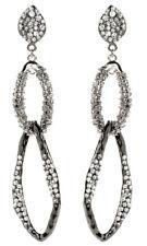 Amrita Singh Gunmetal Crystal Amarya Chandelier Dangle Earrings ERC 6007 NWT