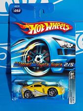 Hot Wheels 2006 Drift Kings Series #052 'Tooned Toyota Supra Yellow w/ PR5s