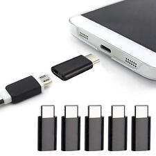 5PC Schwarz USB 3.1 Type-C Male to Micro USB Female Converter USB-C Adapter Type