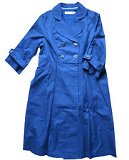 VICTORIA COUTURE-  Imperméable, trench preppy  bleu Taille S (36/38) maje stueux